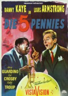 The Five Pennies - German Movie Poster (xs thumbnail)