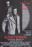 Donnie Brasco - Turkish Movie Poster (xs thumbnail)