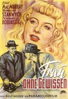 Double Indemnity - German Theatrical poster (xs thumbnail)