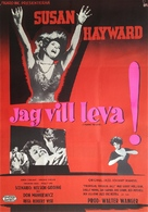 I Want to Live! - Swedish Movie Poster (xs thumbnail)