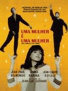 Une femme est une femme - Brazilian Theatrical poster (xs thumbnail)