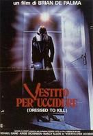 Dressed to Kill - Italian Movie Poster (xs thumbnail)