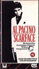 Scarface - British VHS cover (xs thumbnail)