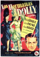 The Dolly Sisters - Spanish Movie Poster (xs thumbnail)