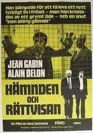 Deux hommes dans la ville - Swedish Movie Poster (xs thumbnail)