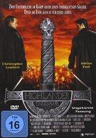 Highlander: Endgame - German DVD movie cover (xs thumbnail)