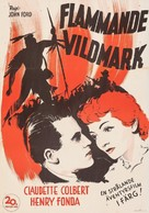 Drums Along the Mohawk - Swedish Movie Poster (xs thumbnail)