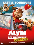 Alvin and the Chipmunks: The Road Chip - French Movie Poster (xs thumbnail)