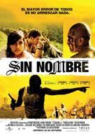 Sin Nombre - Spanish Movie Poster (xs thumbnail)