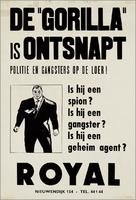 Le gorille vous salue bien - Dutch Movie Poster (xs thumbnail)