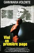 Sbatti il mostro in prima pagina - French VHS cover (xs thumbnail)