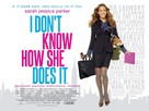 I Don't Know How She Does It - British Movie Poster (xs thumbnail)