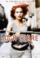 Lola Rennt - Italian Movie Poster (xs thumbnail)