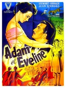 Adam and Evelyne - French Movie Poster (xs thumbnail)