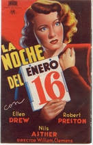 Night of January 16th - Spanish Movie Poster (xs thumbnail)