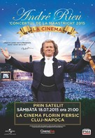 André Rieu's 2015 Maastricht Concert - Romanian Movie Poster (xs thumbnail)