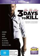 Three Days to Kill - Australian DVD cover (xs thumbnail)