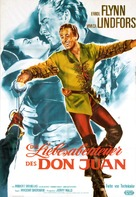 Adventures of Don Juan - German Re-release movie poster (xs thumbnail)