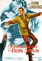 Adventures of Don Juan - German Re-release movie poster (xs thumbnail)