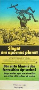 Battle for the Planet of the Apes - Swedish Movie Poster (xs thumbnail)