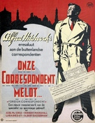 Foreign Correspondent - Dutch Movie Poster (xs thumbnail)