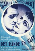 It Happened One Night - Swedish Movie Poster (xs thumbnail)