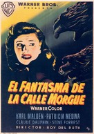 Phantom of the Rue Morgue - Spanish Movie Poster (xs thumbnail)