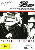 Foreign Correspondent - Australian DVD movie cover (xs thumbnail)