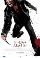 Ninja Assassin - Romanian Movie Poster (xs thumbnail)