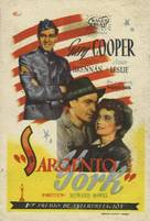 Sergeant York - Spanish Movie Poster (xs thumbnail)