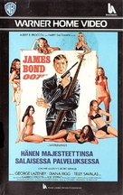 On Her Majesty's Secret Service - Finnish VHS movie cover (xs thumbnail)