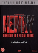 Henry: Portrait of a Serial Killer - British DVD movie cover (xs thumbnail)