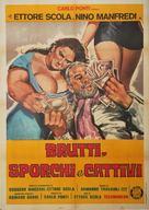 Brutti sporchi e cattivi - Italian Movie Poster (xs thumbnail)