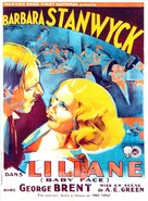 Baby Face - French Movie Poster (xs thumbnail)