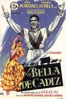 La belle de Cadix - Spanish Movie Poster (xs thumbnail)