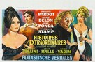 Histoires extraordinaires - Belgian Movie Poster (xs thumbnail)