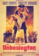 Unconquered - German Movie Poster (xs thumbnail)