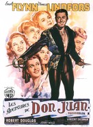 Adventures of Don Juan - French Movie Poster (xs thumbnail)