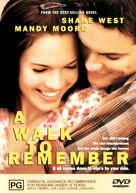 A Walk to Remember - Australian DVD cover (xs thumbnail)