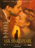 Shakespeare In Love - Turkish Movie Poster (xs thumbnail)