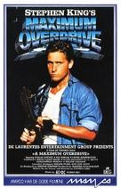 Maximum Overdrive - Norwegian VHS movie cover (xs thumbnail)
