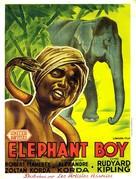 Elephant Boy - French Movie Poster (xs thumbnail)