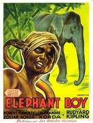 Elephant Boy - French Movie Poster (xs thumbnail)