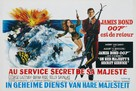 On Her Majesty's Secret Service - Belgian Movie Poster (xs thumbnail)