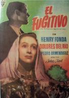 The Fugitive - Spanish Movie Poster (xs thumbnail)