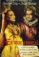 La belle et la bête - German Movie Poster (xs thumbnail)