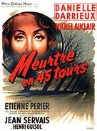 Meurtre en 45 tours - French Movie Poster (xs thumbnail)