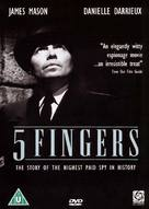 5 Fingers - British Movie Cover (xs thumbnail)