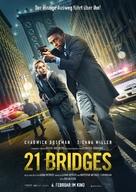 21 Bridges - German Movie Poster (xs thumbnail)