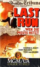 The Last Run - German VHS movie cover (xs thumbnail)